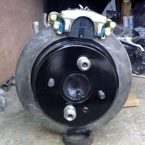 Trial fit up of the brakes