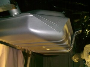 Petrol tank fitted