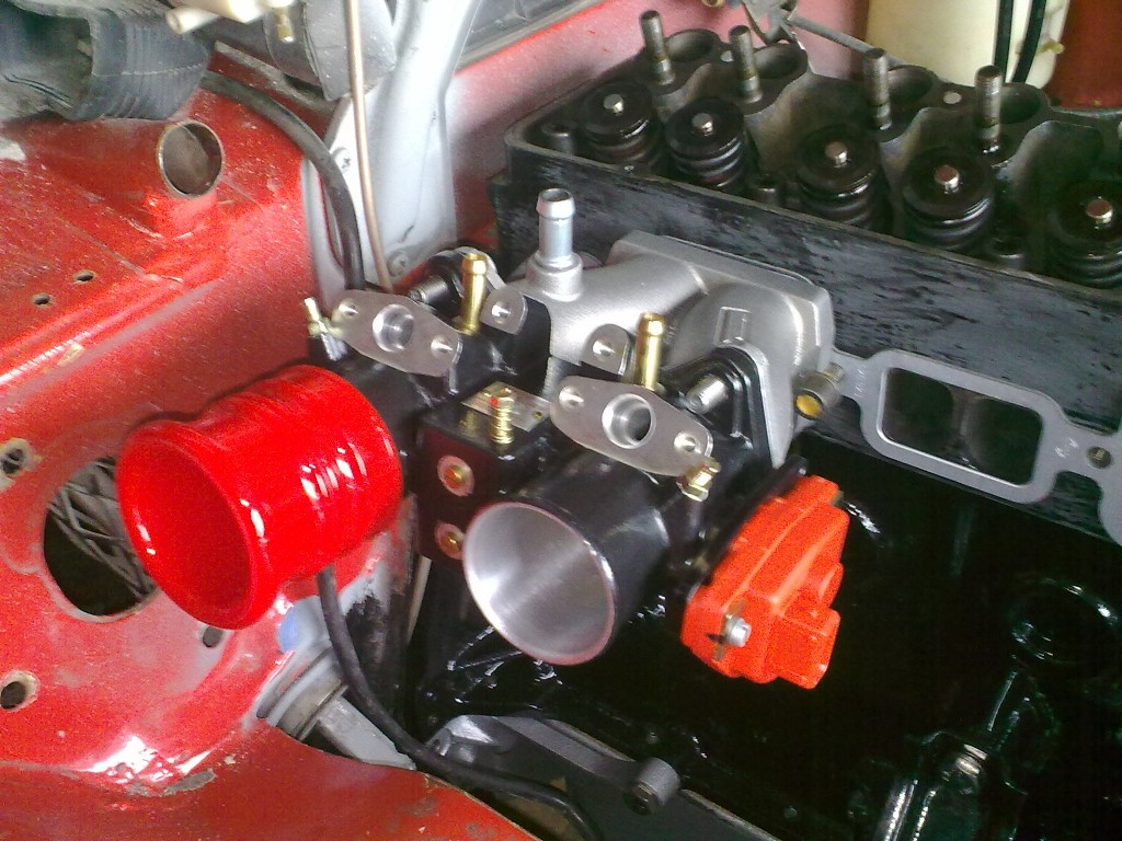 Opel Manta A Series Alpha throttle bodies and Risse inlet manifolds.