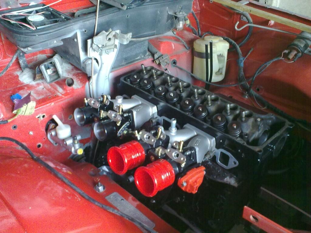 Opel Manta A Series, running twin 45 throttle bodies