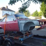 Opel Manta HPE 611N - back from bead blasting September 05