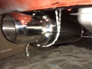 Fitting the stainless steel exhaust system to the Opel Manta A Series