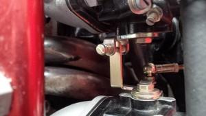 Opel Manta twin throttle body (twin carb) extended throttle linkage