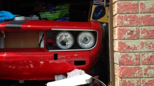 Opel Manta A Series with BMW E30 halo eyes