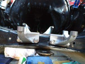 Opel Manta A Series steering rack conversion.